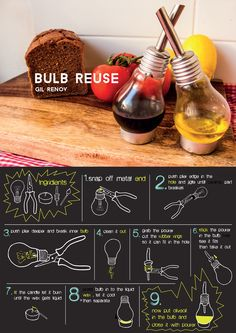 Great DIY projects to reuse old light bulbs. Recycled Light Bulbs, Light Bulb Crafts, Upcycled Home Decor, Upcycled Crafts, Diy Crafts, Make Do And Mend, Old Lights, Reuse Recycle, Crafty Craft