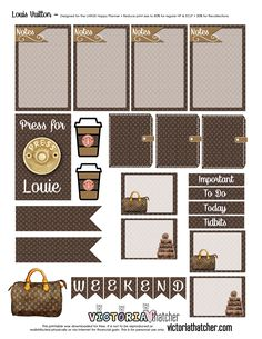 FREE Louis Vuitton Planner Printable by Victoria Thatcher
