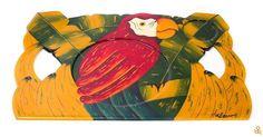 Make breakfast in bed a colorful experience with this amazing hand-painted tray with a macaw and tropical leaf design! Find it on the link in our profile | ¡Haz que el desayuno en la cama sea una colorida experiencia con esta increíble bandeja pintada a mano con un diseño de guacamaya y hojas tropicales! Consíguela en el link de nuestro perfil