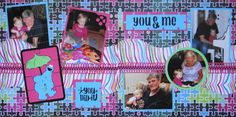 Girl Scrapbook Page - You Did It - Children's 2 page Kiwi Lane layout with Cookie Monster puzzle from Everyday Life Album 25. The titles are from Don Juan.