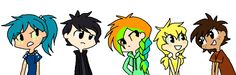 Homo Sapiens of Destiny by liighty.deviantart.com on @DeviantArt. Tsunami, Starflight, Glory, Sunny and Clay. Starflight should be black and Clay should have dark, dirt colored skin. Very cute other than that, can't wait for more.