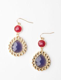 earrings lavender & ruby