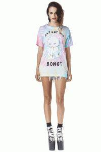Unif – Cat Bong Tie Dye Top In Multi