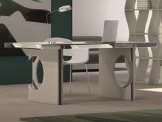 Bureau. Mod.ESEN Bureau Design, Dining Table, Furniture, Home Decor, Couches, Mesas, Glass Tray, Footlocker, Solid Wood