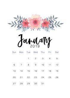 Free 2019 printable calendar - The Cactus Creative Diy Calender, Monthly Calender, January Calendar, Print Calendar, 2019 Calendar, Calendar Design, Desk Calendars, December, Calander Printable