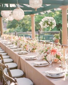 "Style Me Pretty on Instagram: ""Double tap if you'd want to dine at this table! 🍽✨ We have allll the heart eyes the sorbet inspired color palette!  LBB Floral Design:…"" Blush Wedding Theme, Intimate Wedding Reception, Wedding Colors, Wedding Table Linens, Spring Wedding Decorations, Seattle Wedding, Event Design, Summer Wedding, Floral Design"