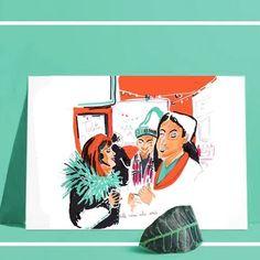 Boutique en ligne du Grand Bassin | Illustration | Créations artisanales | France Nocturne, Roubaix, Illustrations, 3 D, Creations, France, Drawings, Cards, Art Crafts