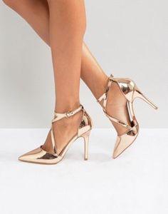 b24380904 20 melhores imagens de Sandálias e Sapatos dourados em 2018 | Gold ...