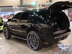 Blacked Out Escalade. Sexy as hell baby <3