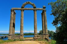 Classical Greek columns arches