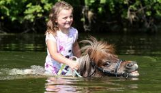 PsBattle: Girl and pony in the water
