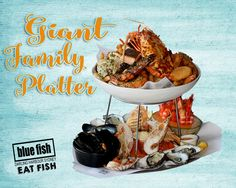 Have you tried Blue Fish's Famous Giant Seafood Platter its a real taste of Australia Best Seafood and great to share with friends & family. Blue Fish Restaurant, New Year Menu, Sydney Restaurants, Seafood Platter, Darling Harbour, Fresh Seafood, Eat, Ethnic Recipes, Seafood Bake