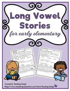 Engaging decodable short stories that have long vowel words followed by comprehension questions, color coding vowel spellings and illustrating the story. RECENTLY UPDATED with eight new stories! #Phonics #LongVowels #ReadingComprehension