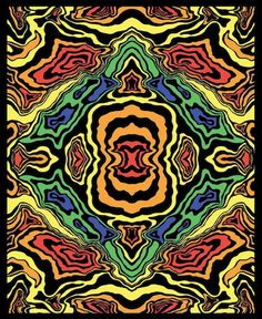 Opticz - Topographic - Black Light - Small Tapestry