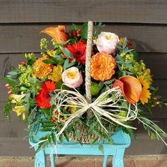 Autumn basket from  www.thepetalboutique.co.uk
