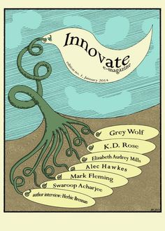 My cover design for issue one of the new writers emagazine 'Innovate'  Discover more at:  https://www.facebook.com/innofeight