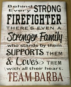 Custom Name or Personalized Behind Every Firefighter Family Loves Them Large Wood Sign, Canvas Wall Hanging, or Canvas Banner - Christmas