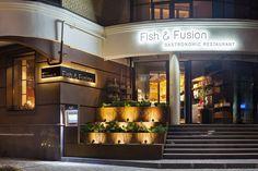 Fish&Fusion, Poltava, 2014 - YOD studio of commercial design Outdoor Restaurant Design, Restaurant Fish, Restaurant Branding, Image Of Fish, Restaurant Furniture, Fish Scales, Design Lab, Commercial Design, Coffee Shop