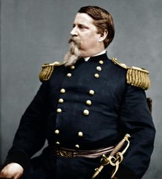 Major General Winfield Scott Hancock, portrait of him as an older General. American Presidents, American Civil War, American History, Colorized Historical Photos, Winfield Scott, Gettysburg National Military Park, Civil War Art, Union Army, Major General