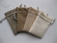 natural fiber drawstring bags -- packaging
