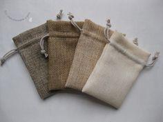 natural fiber drawstring bags -- packaging