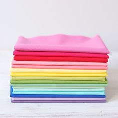 Over the rainbow @ http://www.bloomeriefabrics.com/collections/bloomerie-bundles/products/over-the-rainbow-bella-fat-quarter-bundle