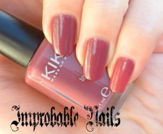 "Improbable Nails: Swatch: KIKO nail lacquer 317 ""Rosa Antico Scuro"""