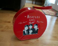 Beatles 1964 Red Vinyl Air Flite Overnight Bag