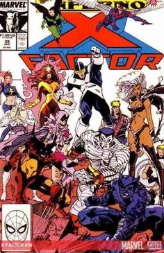 Walt Simonson X-Factor cover featuring The X-Men