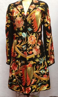 BIYA Eclectic Designer Embroidered Coat Original Price $898 2 Sizes Koiscloset | eBay