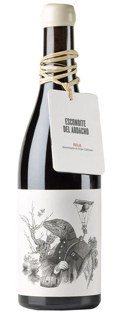 Wine Labels - Tentenublo Wine, Escondite de Ardacho. #Rioja Wine of Spain.