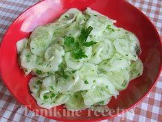 Uhorkový šalát (Slovak cucumber salad)