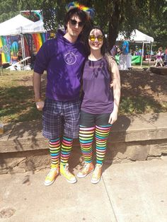 https://flic.kr/p/LpJ8q1 | My friend and I at C'Ville Pride! | Lots of people loved our matching outfits!