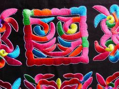 Chinese-tribal-miao-hmong-machinemade-embroidery-Mystery-rosy-squares
