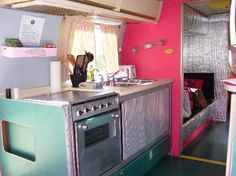 There is a fully functional kitchen at Kate's Lazy Meadow Motel. For two hundred a night, there should be!