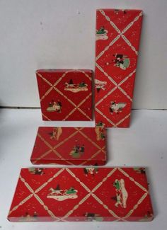 4 Old Different Size Christmas Gift Boxes - EATON'S  DEPT STORE - CANADA
