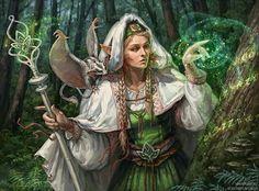 Neutral Good Elven Wood Wizard.