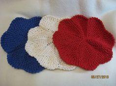 3 Handmade Knitted Dishcloths by sewfuncreations1988 on Etsy, $14.00