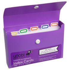 Commit this to memory. We took those fumbly old stacks of index cards and gave them an instant upgrade. Keep your cards organized in this durable and colorful snap-closure carrying case.