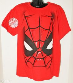 SPIDERMAN YOUTH BOYS LARGE OR GIRLS OR WOMANS SMALL RED T-SHIRT RARE SAMPLE 2012…