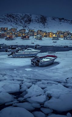 Winter night in Nuuk, Greenland | by Aaron Dulley