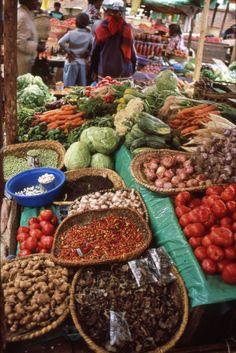Vegetable market . Madagascar