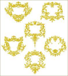 In Hoop Oasis Frames machine embroidery designs