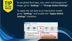 Tip of the Week: Set a global font and background style across all your interactions