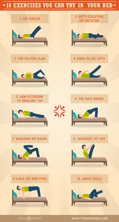 10 exercises you can try in bed