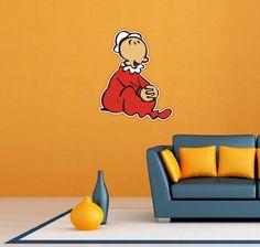 "Swee'Pea Popeye the Sailor Swee Pea Wall Decor Sticker Decal 18""X25"""