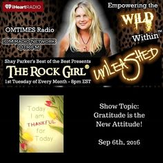 Tune in Tuesday September 6 2016 at 8pm EST as Allison Hayes The Rock Girl Master Psychic Healer and founder of The Rock Girl Sacred Stone School discusses how the key to manifestation is GRATITUDE! The Rock Girl will share her trade secrets when it comes to manifesting hopes dreams and desires and talk about the stones skills and energy patterns that can accelerate this process!  http://ift.tt/1ZCqBA5  #radio #allisonhayes #therockgirlunleashed #therockgirl #empowerment #iomradio…