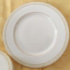 Four (4) Ralph Lauren Veranda Dinner Plates Stunning Cream \u0026 Caramel Coloring #RalpLauren & Two (2) Royal Worcester Dinner Plates Azure Pattern New Still have ...