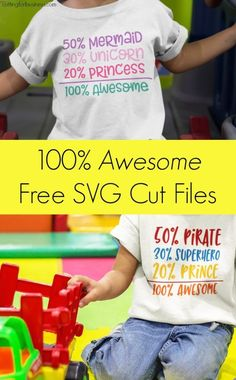 Free 100% Awesome Kids SVG Cut File Set for Silhouette Cameo or Cricut Explore - by cuttingforbusiness.com