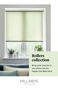 In a lime green textured fabric that shimmers ever so softly when the light touches the threads, this Roller blind will add an explosion of natural colour to your living room. A contemporary, subtly patterned fabric that's not afraid to be bold, and yet never overwhelms, Dapple Lime Roller blind will set your mind at ease the moment you see how it works its way into your existing space. View this colour for your living room, order your free samples.